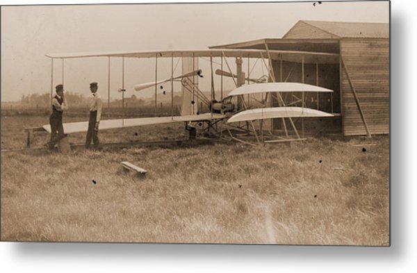 Wright Brothers 2nd Powered Machine Metal Print
