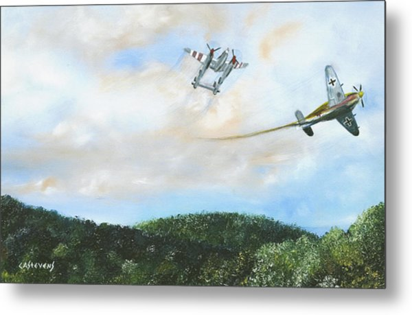 Wwii Dogfight Metal Print