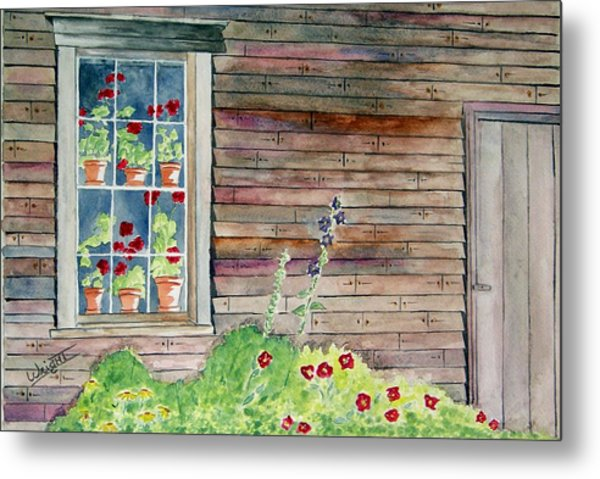 Wyeth House In Tempera Paint Metal Print by Larry Wright