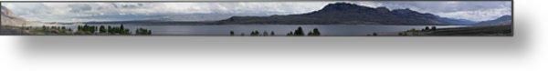 Wyoming Mountain Panorama Metal Print by Gregory Jeffries