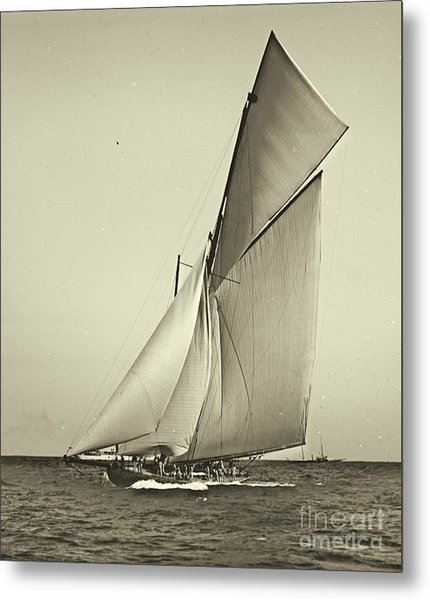 Yacht Shamrock Racing Americas Cup 1899 Metal Print