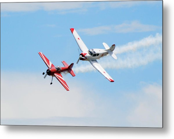 Yak 55 And Yak 18 Metal Print by Larry Keahey