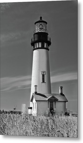 Yaquina In Mono Metal Print