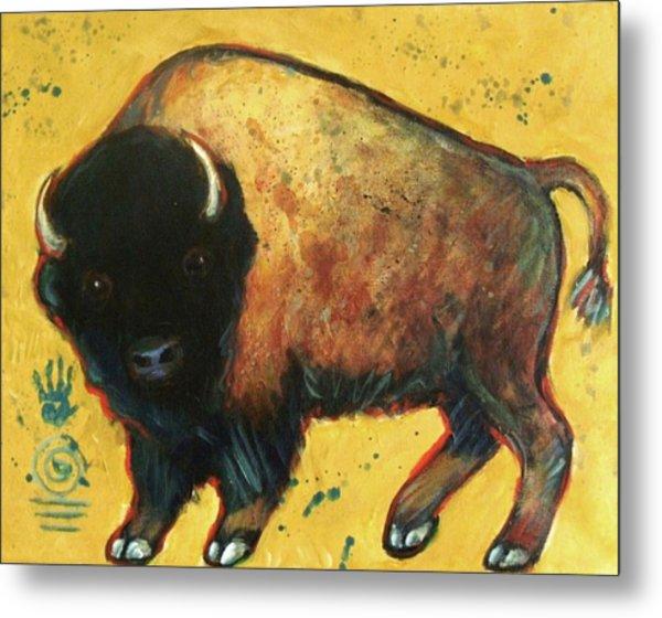 Yellow Buffalo Metal Print