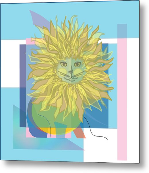 Yellow Cat Metal Print by Susan Nelson
