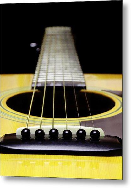Yellow Guitar 17 Metal Print