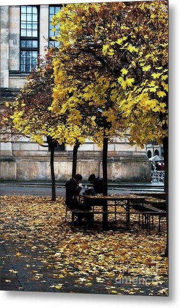 Yellow Lunch Metal Print