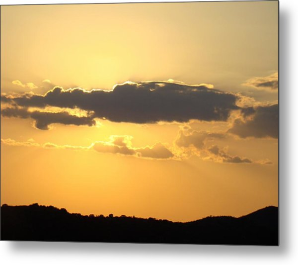 Yellow Sky Two Metal Print by Ana Villaronga