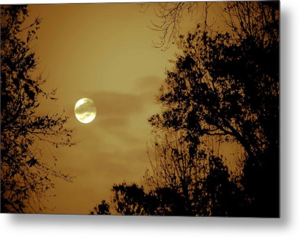 Yesteryears Moon Metal Print