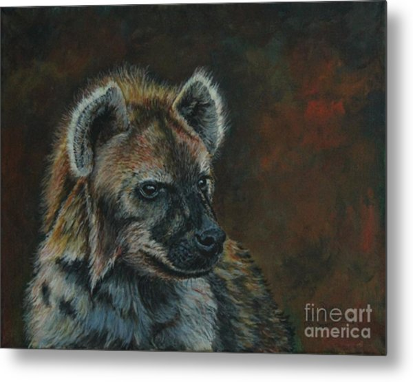 You Don't See Me Laughing......hyena Metal Print
