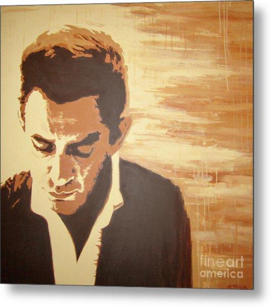 Young Johnny Cash Metal Print