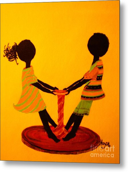 Young Love-twirling Metal Print