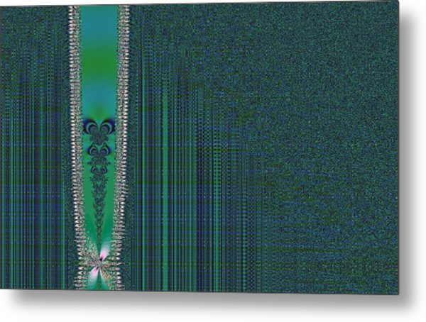 Zipper With Tattoo Metal Print by Thomas Smith