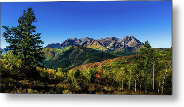 Metal Print featuring the photograph Mount Timpanogos by TL Mair