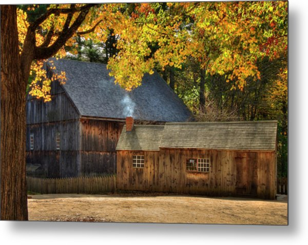 Metal Print featuring the photograph Old Weathered Barn In Fall by Joann Vitali