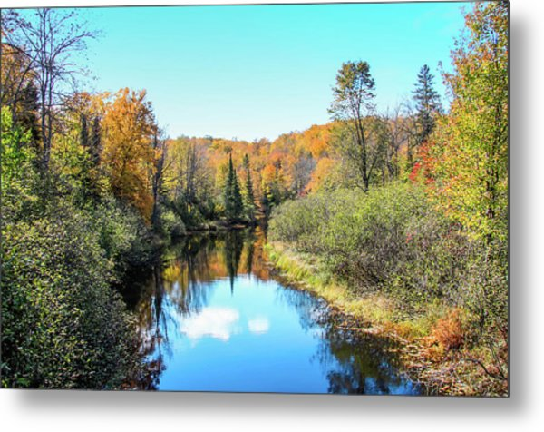 Reflections Of Fall In Wisconsin Metal Print