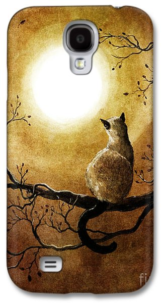 Siamese Cat In Timeless Autumn Galaxy S4 Case by Laura Iverson