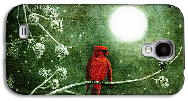 Yuletide Cardinal Galaxy S4 Case by Laura Iverson