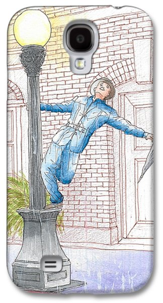 Gene Kelly In Singing In The Rain, 1952 Galaxy S4 Case by Carlos G Groppa