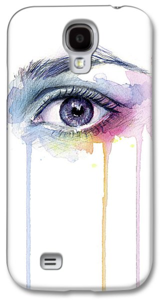 Colorful Dripping Eye Galaxy S4 Case by Olga Shvartsur