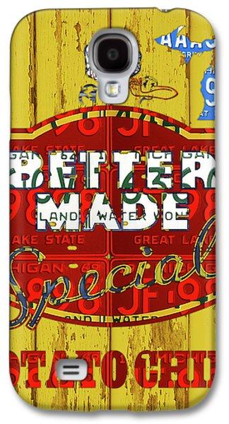Better Made Potato Chips Michigan License Plate Art Galaxy S4 Case