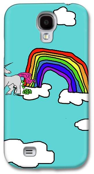 Cash Crap Unicorn Galaxy S4 Case by Jera Sky