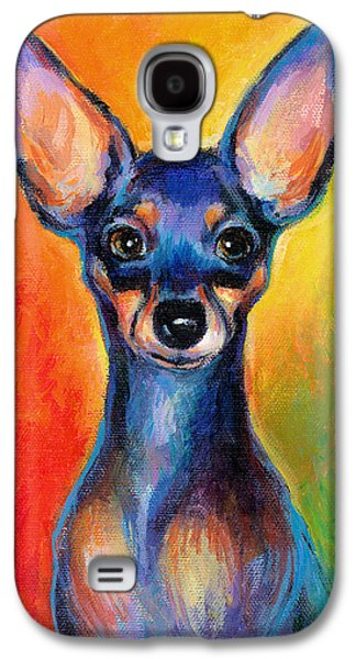 Contemporary Colorful Chihuahua Chiuaua Painting Galaxy S4 Case by Svetlana Novikova