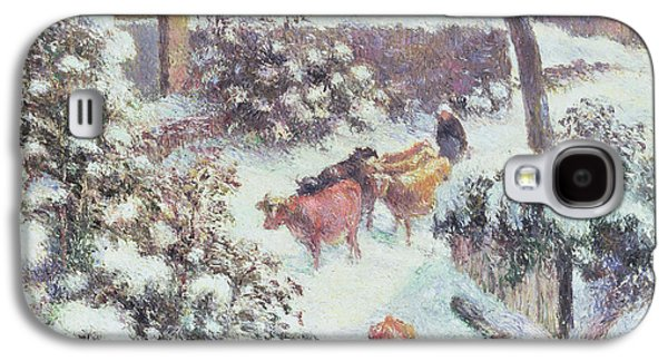 Effect Of Snow At Montfoucault Galaxy S4 Case by Camille Pissarro