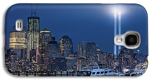 Ground Zero Tribute Lights And The Freedom Tower Galaxy S4 Case by Chris Lord