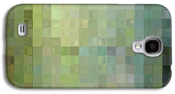 Modern Tile Art One Modern Decor Collection Galaxy S4 Case by Mark Lawrence