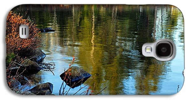 Morning Reflections On Chad Lake Galaxy S4 Case by Larry Ricker