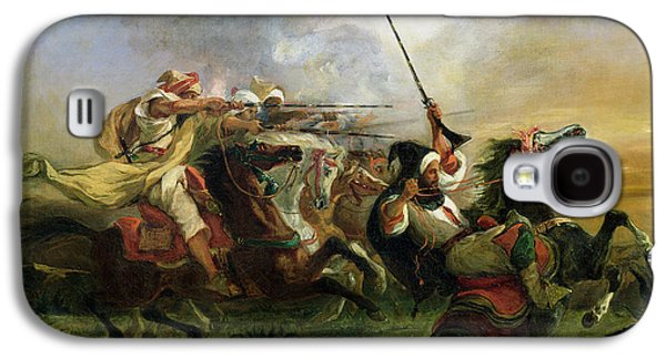 Moroccan Horsemen In Military Action Galaxy S4 Case
