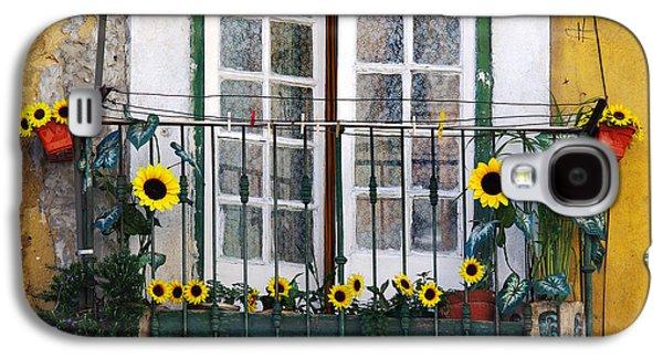 Sunflower Balcony Galaxy S4 Case by Carlos Caetano