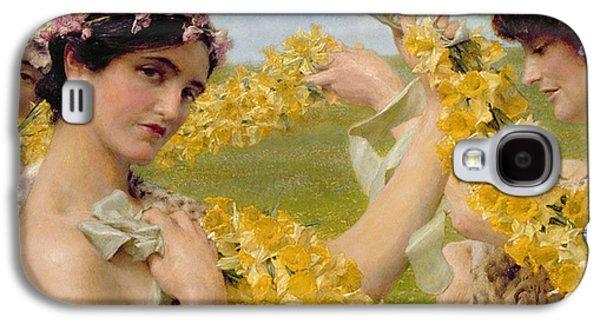 When Flowers Return Galaxy S4 Case by Sir Lawrence Alma-Tadema