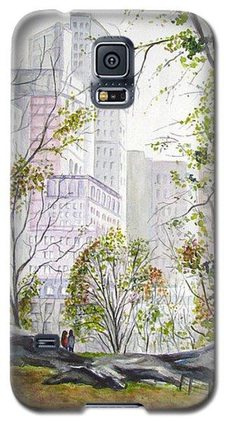 Central Park Stroll Galaxy S5 Case by Clara Sue Beym