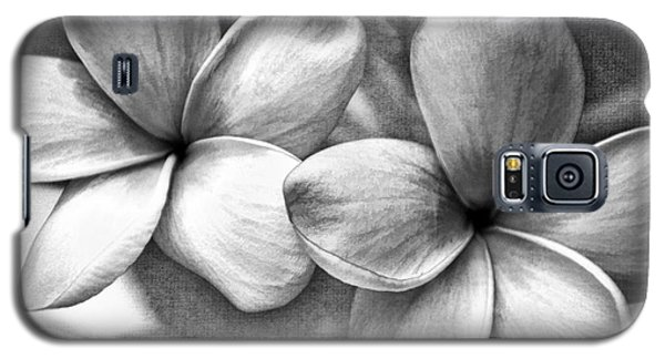 Frangipani In Black And White Galaxy S5 Case by Peggy Hughes