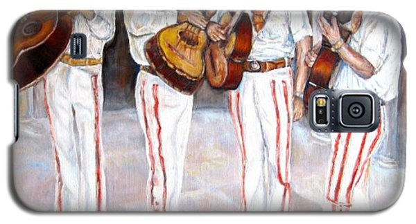 Galaxy S5 Case featuring the painting Mariachi  Musicians by Carole Spandau
