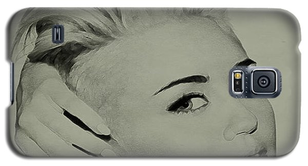 Galaxy S5 Case featuring the drawing Miley Cyrus  by Brian Reaves