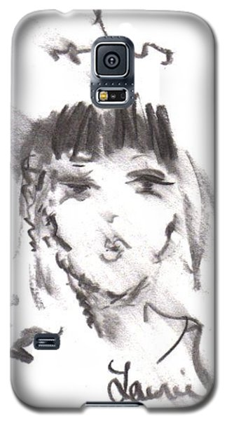 Galaxy S5 Case featuring the drawing Queen Of Kisses by Laurie L