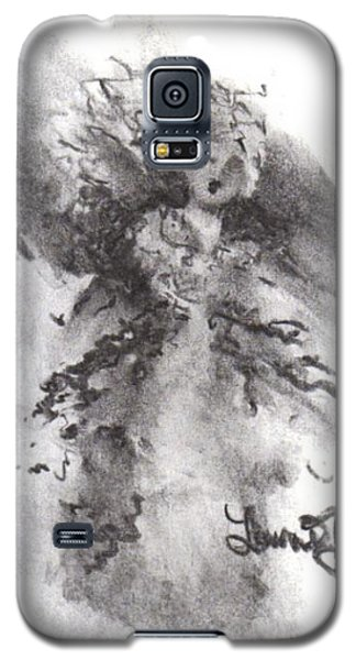 Galaxy S5 Case featuring the drawing Rapture Of Peace by Laurie L