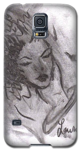 Galaxy S5 Case featuring the drawing Story Of My Heart by Laurie L