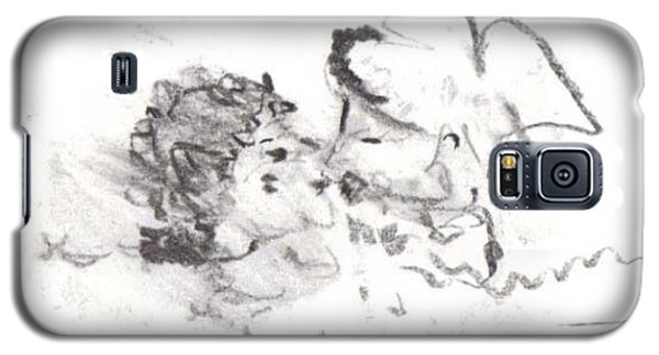Galaxy S5 Case featuring the drawing Timeless Love by Laurie L