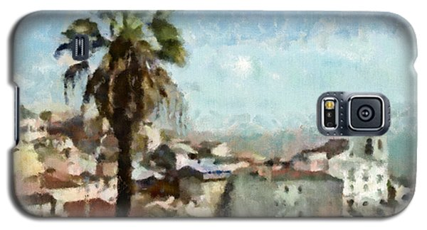 Galaxy S5 Case featuring the painting Lisbon by Dariusz Gudowicz