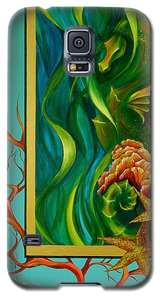 Galaxy S5 Case featuring the painting Aquatica by Dina Dargo