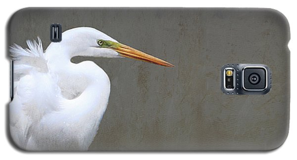 Portrait Of An Egret Rectangle Galaxy S5 Case by Karen Lynch