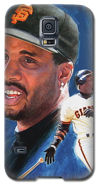 Galaxy S5 Case featuring the painting Barry Bonds In The Shadow by Cliff Spohn