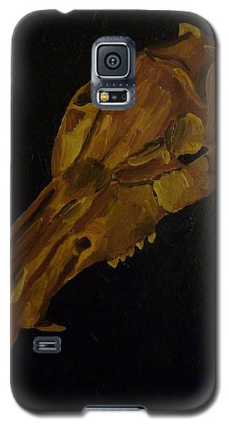 Galaxy S5 Case featuring the painting Boar's Skull No. 3 by Joshua Redman
