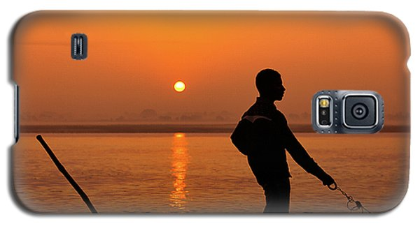 Boatsman On The Ganges Galaxy S5 Case