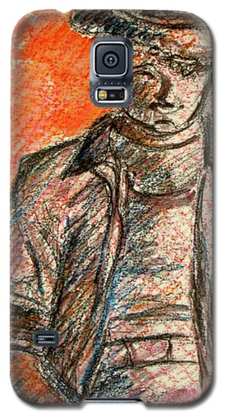 Galaxy S5 Case featuring the painting Boy In Red by Cathie Richardson