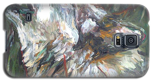 Galaxy S5 Case featuring the painting Calling by Koro Arandia